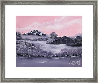 Winter Barns Framed Print