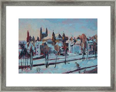 Winter Basilica Our Lady Maastricht Framed Print