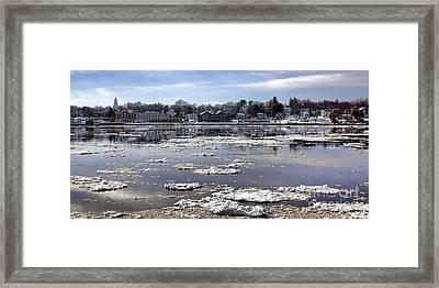 Winter Bath Framed Print