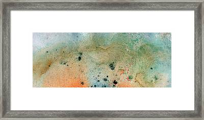 Winter Beach - Abstract Landscape Art Painting Framed Print by Modern Art Prints
