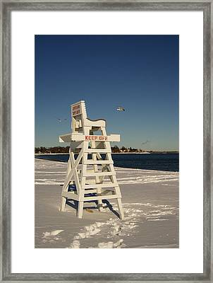 Winter Beach At Penfield  Framed Print
