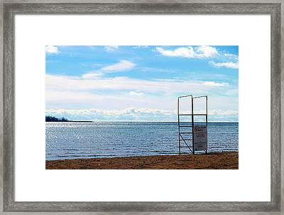 Framed Print featuring the photograph Winter Beach by Valentino Visentini