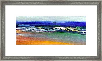 Winter Beach Framed Print