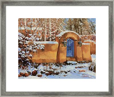 Winter Beauty Of Santa Fe Framed Print by Gary Kim