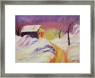 Winter Beauty Framed Print by Suzanne  Marie Leclair