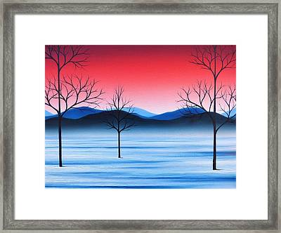 Winter Beckons Framed Print by Rachel Bingaman