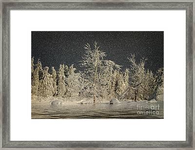 Winter Begins Framed Print by Lois Bryan