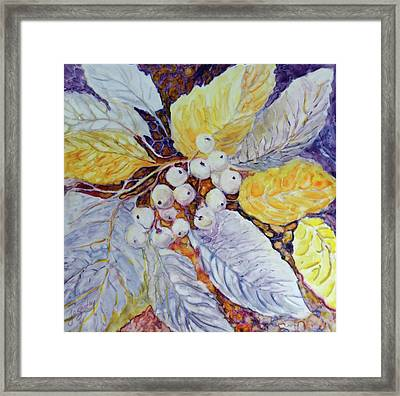 Framed Print featuring the painting Winter Berries by Joanne Smoley