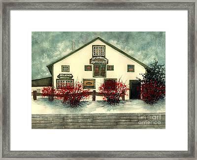 Winter Berries - Old Lumberyard Antiques Framed Print
