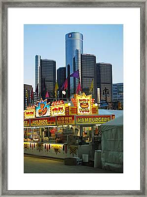 Winter Blast In Detroit Framed Print by Michael Peychich