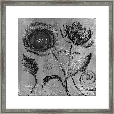 Framed Print featuring the digital art Winter Blooms IIi by Robin Maria Pedrero