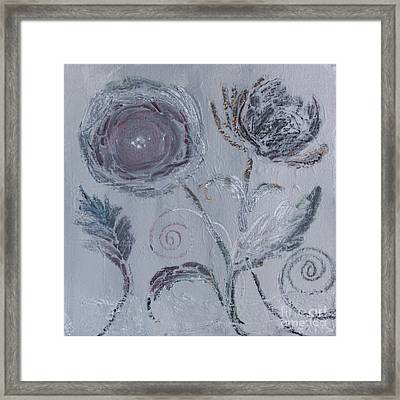 Framed Print featuring the painting Winter Blooms by Robin Maria Pedrero