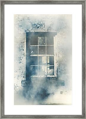 Winter Blues And Broken Windows Framed Print by Jorgo Photography - Wall Art Gallery