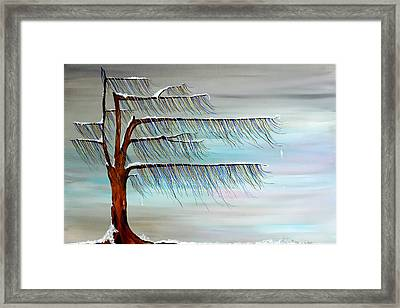 Winter Blues Framed Print by Andrea Youngman