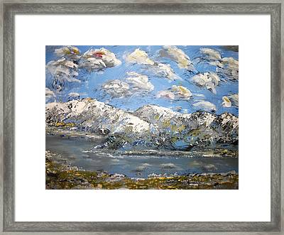 Framed Print featuring the painting Winter Blues by Dan Whittemore