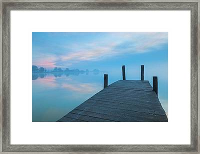Framed Print featuring the photograph Winter Blues by Davor Zerjav