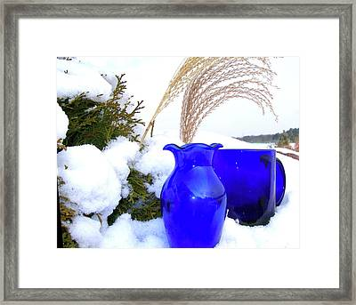 Framed Print featuring the photograph Winter Blues II by Randy Rosenberger
