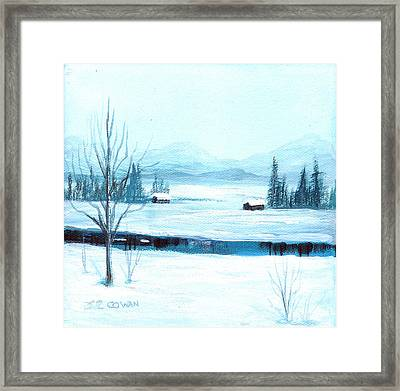Winter Blues Framed Print by SueEllen Cowan
