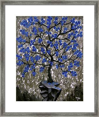 Framed Print featuring the painting Winter Blues by Teresa Wing