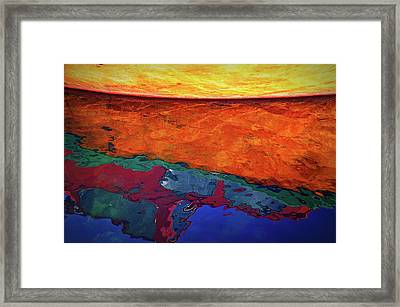 Winter Boat Reflection Framed Print by Paul Causie