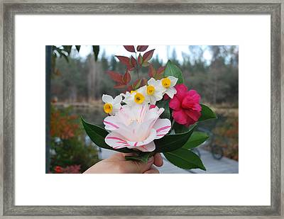 Winter Boquet Framed Print by Linda Sramek