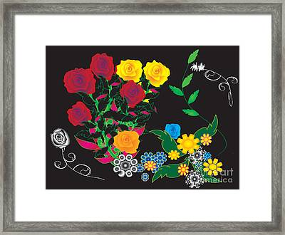 Framed Print featuring the digital art Winter Bouquet by Kim Prowse
