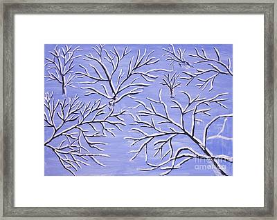Winter Branches, Painting Framed Print