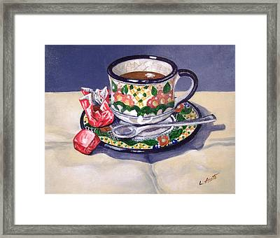Framed Print featuring the painting Winter Break by Laura Aceto