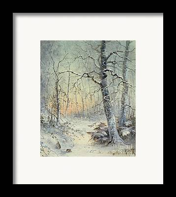 Icy Framed Prints