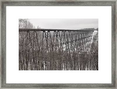 Winter Bridge Framed Print by Wade Aiken