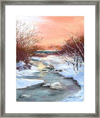 Winter Brook Framed Print by Jack Skinner
