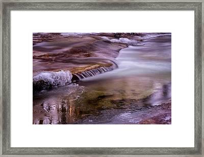 Winter Brook Framed Print by Tom Singleton