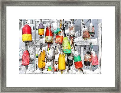Winter Buoys Framed Print