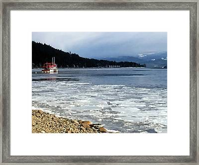 Framed Print featuring the photograph Cottage Life In Winter by Victor K
