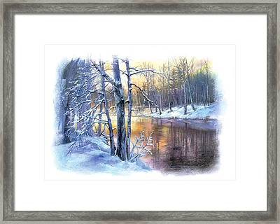 Winter By The River Framed Print