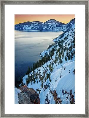 Winter Caldera Framed Print