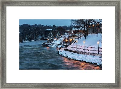 Framed Print featuring the photograph Winter Canal Walk by Everet Regal