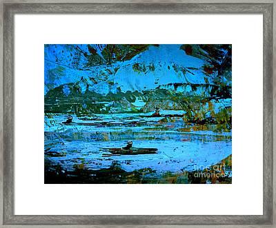 Winter Canoes Framed Print