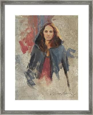 Winter Cape Framed Print by Anna Rose Bain