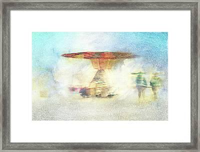 Winter Carousel Framed Print