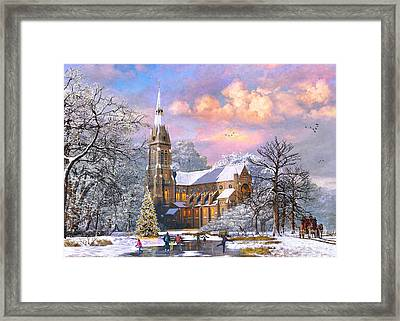 Winter Cathedral Framed Print by Dominic Davison