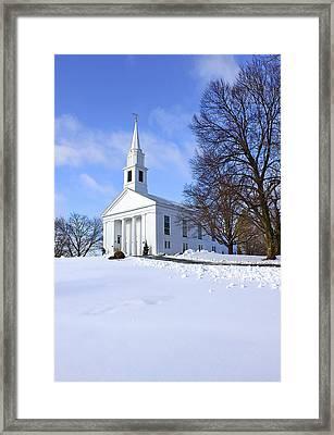 Winter Church Framed Print by Evelina Kremsdorf