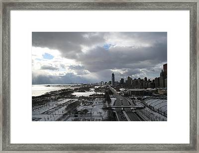 Winter Clouds Over Grant Park Framed Print by Gregory Jeffries