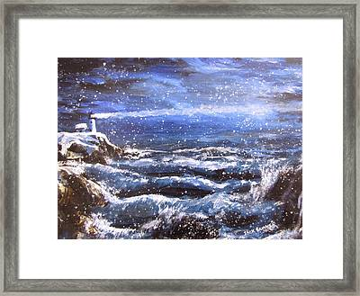 Winter Coastal Storm Framed Print by Jack Skinner