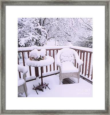 Winter Coat Framed Print by Ann Johndro-Collins