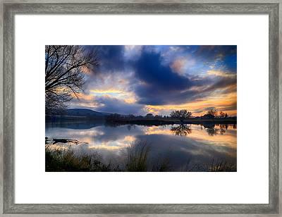 Winter Colors At Sunset Framed Print