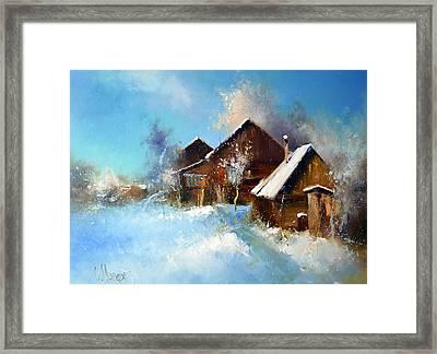 Winter Cortyard Framed Print