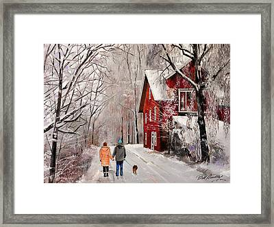 Winter Country Walk Framed Print by Bill Dunkley