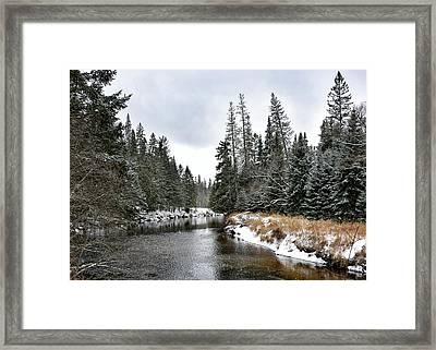 Framed Print featuring the photograph Winter Creek In Adirondack Park - Upstate New York by Brendan Reals