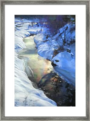 Winter Creek Framed Print by Theresa Tahara